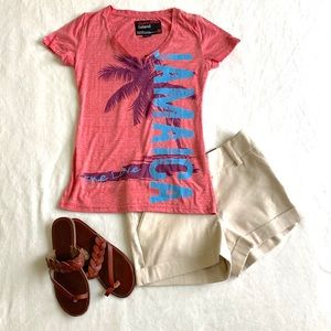 Tops - Pink Jamaica Graphic Tee NWT